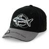 スポーツキャップ ホホジロザメ&顎の骨 ブラック&グレー