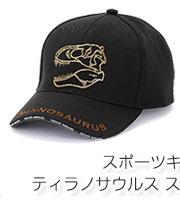 メッシュキャップ ティラノサウルス スカル グレー&ブラック