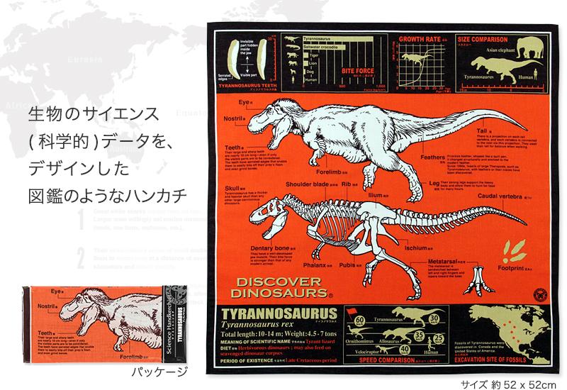 サイエンスバンダナ ティラノサウルス オレンジ