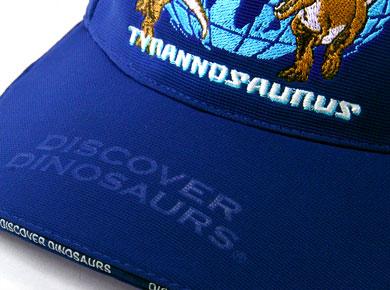 スポーツキャップ ティラノサウルス ブルー