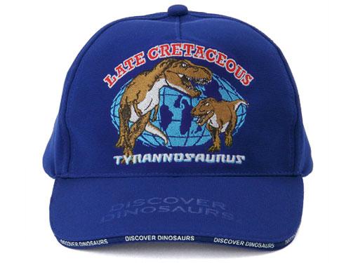 スポーツキャップ ティラノサウルス ブルー 正面