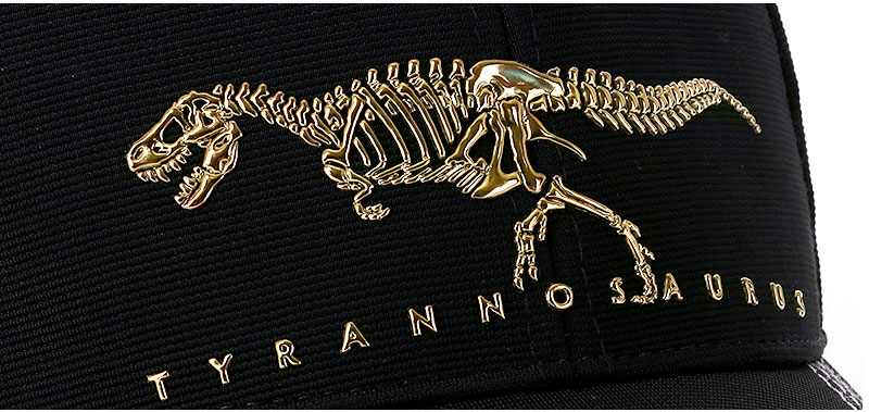 スポーツキャップ ティラノサウルス ボーンズ ブラック デザイン