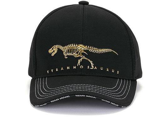 スポーツキャップ ティラノサウルス ボーンズ ブラック 正面