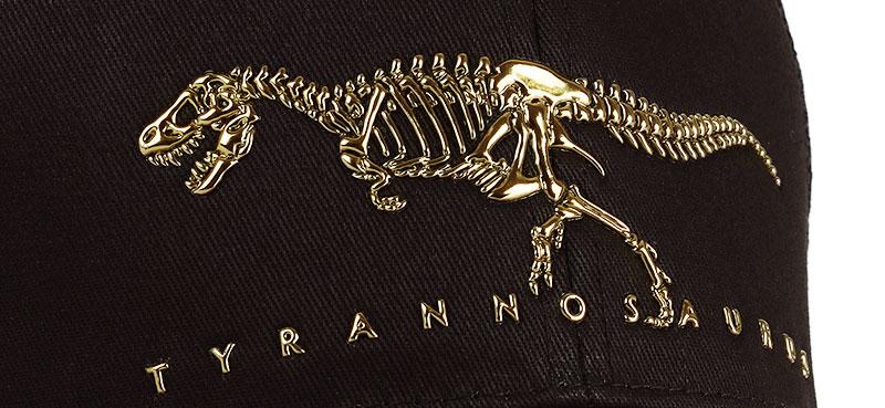 メッシュキャップ ティラノサウルス ボーンズ ブラック&ベージュ デザイン