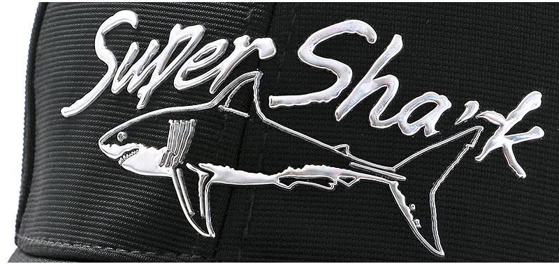 スポーツキャップ ホホジロザメ ブラック デザイン