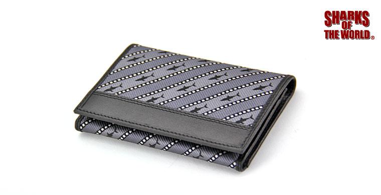 カードケース ホホジロザメ ストライプ グレー&ダークグレー