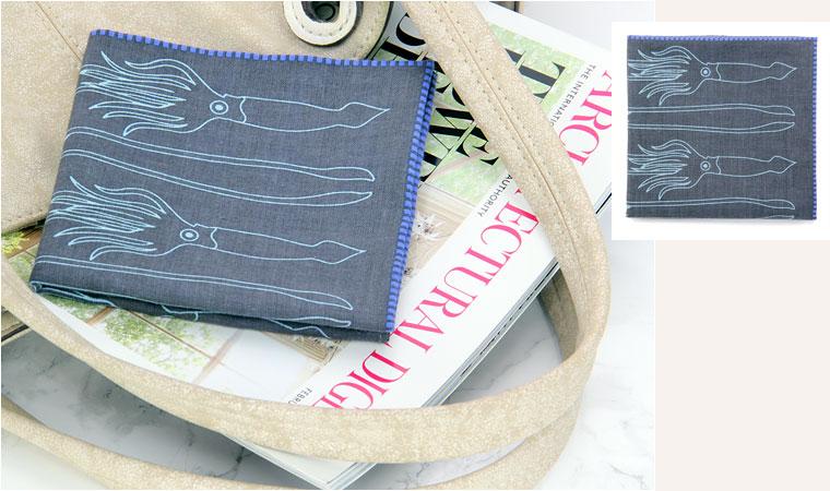 標本ボックス ガーゼハンカチ ダイオウイカ バッグ イメージ