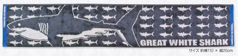 マフラータオル ホホジロザメ グレー
