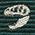 生物・動物・恐竜・アニマル柄ネクタイ ティラノサウルス&トリケラトプス スカル 小紋 ダークグリーン