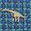 生物・動物・恐竜・アニマル柄ネクタイ ブラキオサウルス ブルー