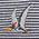 生物・動物・恐竜・アニマル柄ネクタイ プテラノドン 小紋 グレー