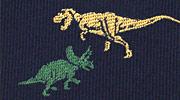 生物・動物・恐竜・アニマル柄ネクタイ ティラノサウルス&トリケラトプス モチーフ