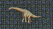 生物・動物・恐竜・アニマル柄ネクタイ ブラキオサウルス モチーフ