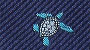 生物・動物・アニマル柄ネクタイ アオウミガメ 小紋 モチーフ