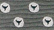 生物・動物・アニマル柄ネクタイ ハンドウイルカ(バンドウイルカ)・尾ビレ 小紋 モチーフ
