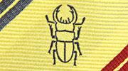 生物・動物・アニマル柄ネクタイ オオクワガタ モチーフ