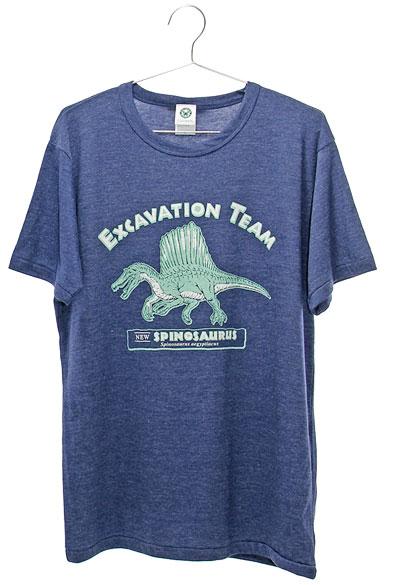 ミュージアムデザイン Tシャツ  スピノサウルス ネイビー Lサイズ