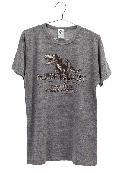 ミュージアムデザイン Tシャツ  羽毛ティラノサウルス グレー Mサイズ