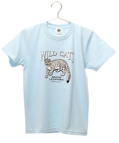 ミュージアムデザイン Tシャツ ユキヒョウ ライトブルー 150サイズ