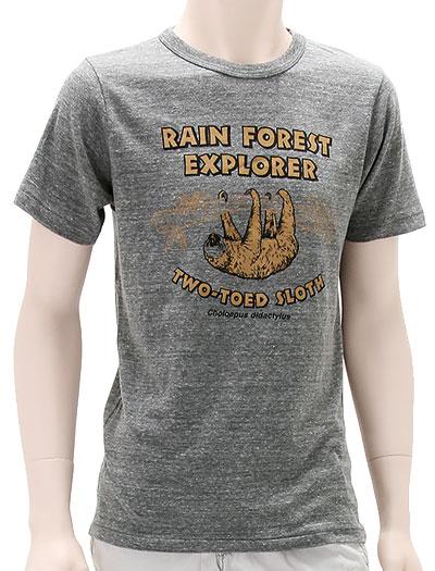 ミュージアムデザイン Tシャツ  フタユビナマケモノ グレー Mサイズ 着用イメージ