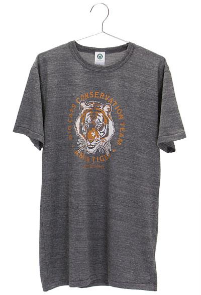 ミュージアムデザイン Tシャツ アムールトラ グレー Lサイズ
