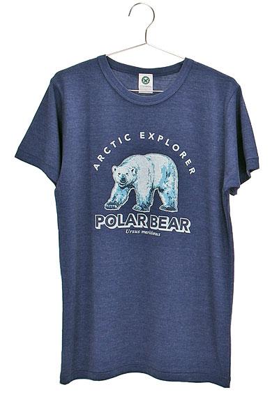 ミュージアムデザイン Tシャツ ホッキョクグマ ネイビー Mサイズ