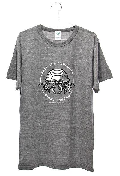 ミュージアムデザイン Tシャツ ダイオウグソクムシ グレー Lサイズ