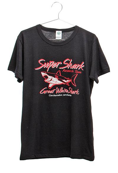 ミュージアムデザイン Tシャツ ホホジロザメ ブラック Mサイズ