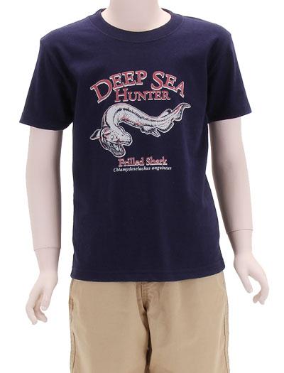 ミュージアムデザイン Tシャツ ラブカ ダークネイビー 130サイズ 着用イメージ