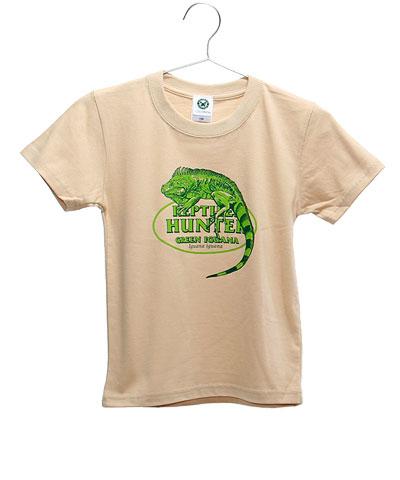 ミュージアムデザイン Tシャツ グリーンイグアナ ベージュ 130サイズ