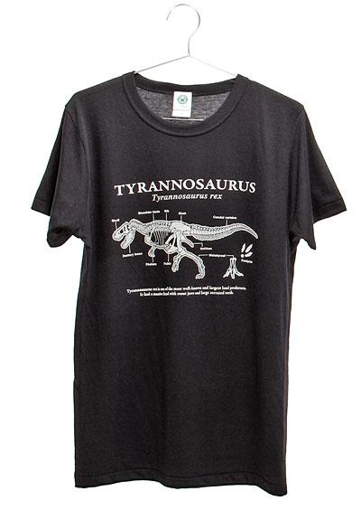サイエンスデザイン Tシャツ ティラノサウルス ブラック Mサイズ