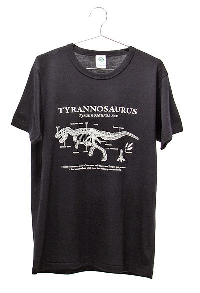 サイエンスデザイン Tシャツ ティラノサウルス ブラック Lサイズ