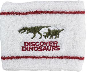 リストバンド ティラノサウルス&トリケラトプス ホワイト