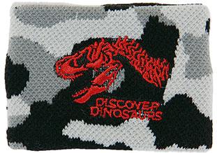 リストバンド ティラノサウルス頭骨 カモフラ ブラック