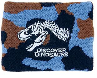 リストバンド ティラノサウルス頭骨 カモフラ ブルー
