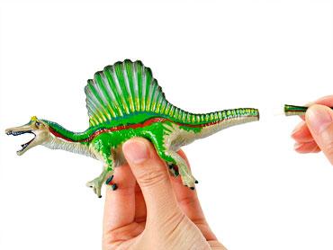 スピノサウルスの尾のパーツ