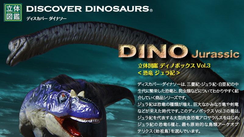 立体図鑑ディノボックス Vol.3(アロサウルスフィギュアをはじめジュラ紀に棲息した恐竜)
