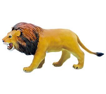 立体図鑑 動物地理区1 エチオピア区 ライオン フィギュア