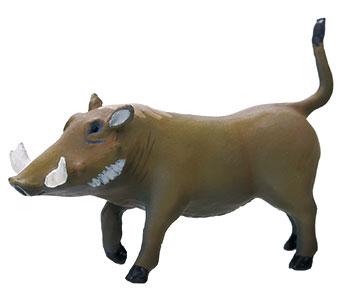 立体図鑑 動物地理区1 エチオピア区 イボイノシシ フィギュア