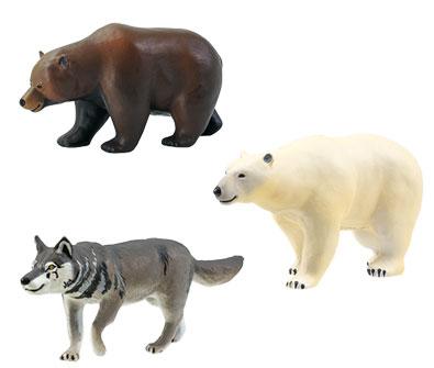 動物地理区 旧北区・新北区 代表的な動物のフィギュア