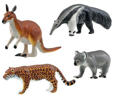 動代表的な動物のフィギュア