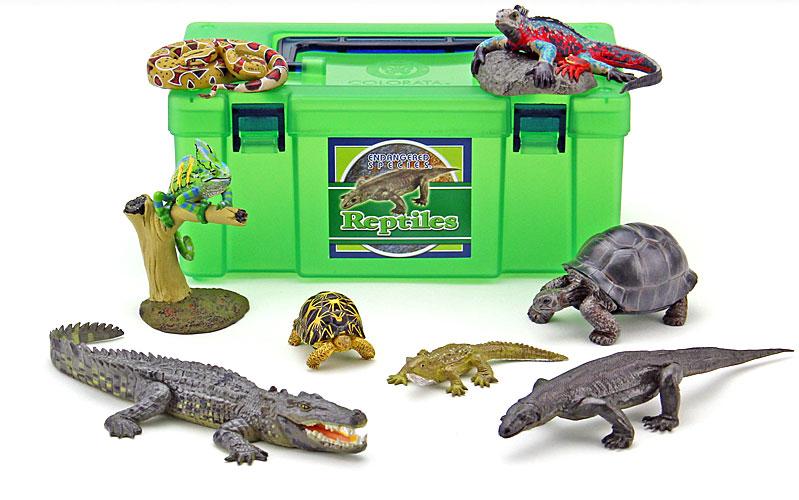 立体図鑑 レプタイルボックス(カメ・トカゲ・ヘビ・ワニフィギュアをはじめとする爬虫類)