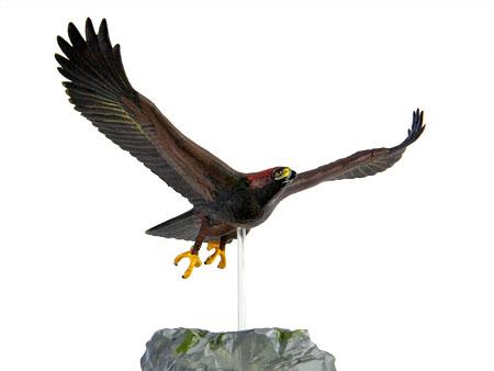 大空に飛び立つイヌワシの飛翔する姿をリアルに再現