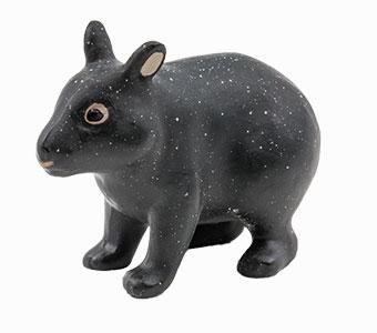 立体図鑑日本の動物ボックス アマミノクロウサギ フィギュア