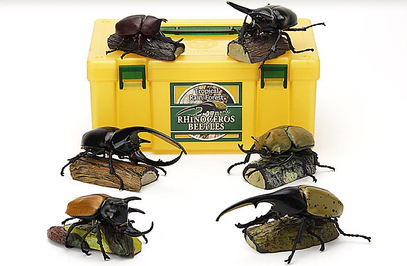 立体図鑑 ライナセラスビートルボックス(ヘラクレスオオカブトフィギュアをはじめとする世界のカブトムシフィギュア・昆虫)