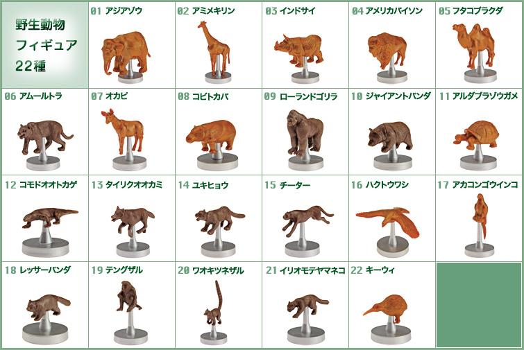 生態系バランスゲーム アニマルポッド 野生動物フィギュア22種