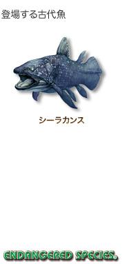 登場する古代魚〜シーラカンス〜エンデンジャード スピーシーズ