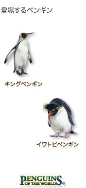 登場するペンギン〜キングペンギン イワトビペンギン〜ペンギン オブ ザ ワールド
