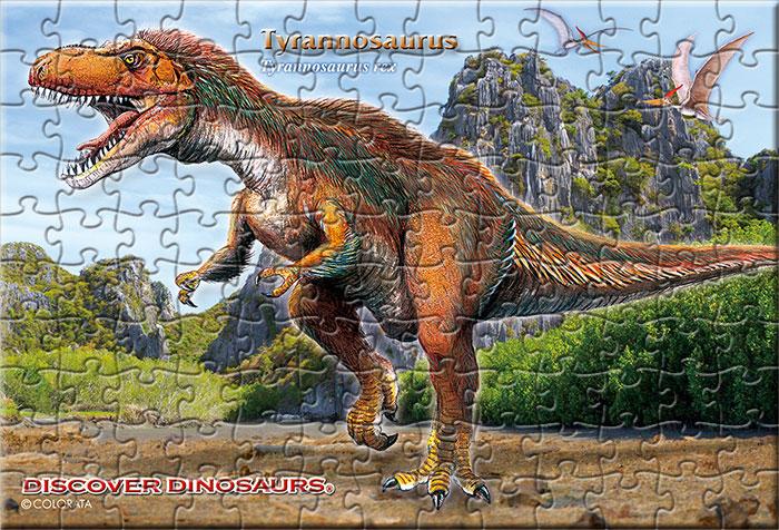 羽毛ティラノサウルス 130ピース ポストカードサイズ ミュージアム ジグソーパズル