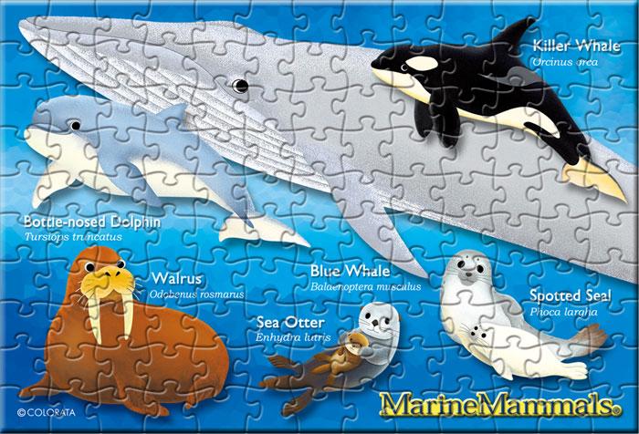 海の哺乳類 130ピース ポストカードサイズ ミュージアム ジグソーパズル